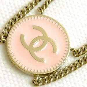 CHANEL Bracelet Coco Logo Pink